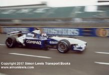 Williams FW23 BMW Marc Gene Silverstone testing 2001. Photo B
